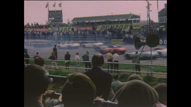 international trophy for sportscars round 4 of the british sports car championship on 15th may 1965 at silverstone circuit in northamptonshire england - northamptonshire stock videos and b-roll footage