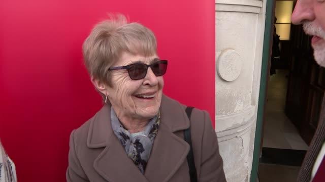 international women's day: jeremy corbyn meets former ford dagenham machinists / shadow cabinet meeting; england: london: dagenham: ext jeremy corbyn... - gloria de piero stock videos & royalty-free footage