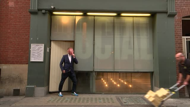 Internet collage sensation Cold War Steve's Brexit dystopia ENGLAND London Fitzrovia The Social EXT Various shots of Coldwar Steve wearing mask of...