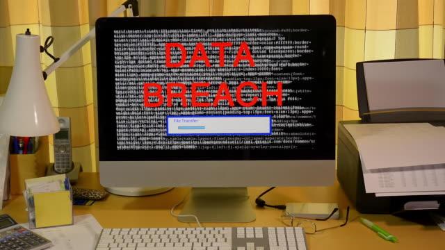 internet hack attack stolen file transfer. - stilleben bildbanksvideor och videomaterial från bakom kulisserna