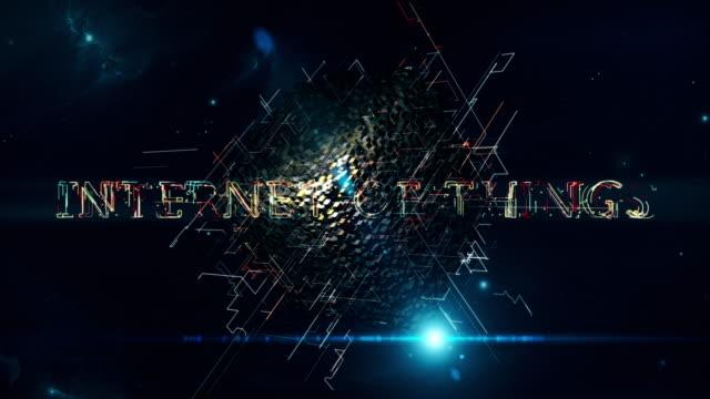物事のキューブのインターネット - 知覚点の映像素材/bロール