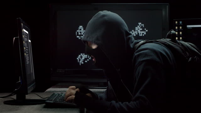 internet piracy hacker profile stealing information - politica video stock e b–roll