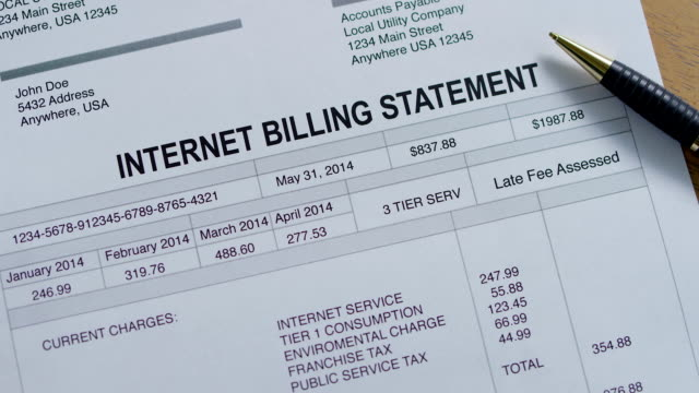 Internet Service Past Due Bill