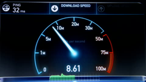 internet speed test upload and download - stream stock videos & royalty-free footage