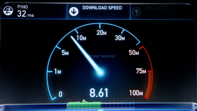 internet speed test upload and download - downloading stock videos & royalty-free footage