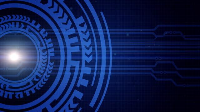 インターネット技術とビジネス インタ フェースの背景円hud - 歯車の歯点の映像素材/bロール