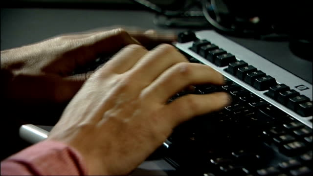 "internet users ""right to be forgotten"" easily by-passed; r18111320 london: gir: hands typing on computer keyboard - typing stock videos & royalty-free footage"