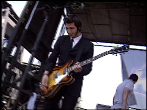 interpol at the 2003 kroq weenie roast at verizon amphitheater in irvine california on june 14 2003 - kroq weenie roast stock videos & royalty-free footage