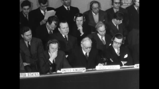 Interpreter booths / SOT Andrey Vyshinsky statement at the United Nations / Note exact year not known documentation incomplete