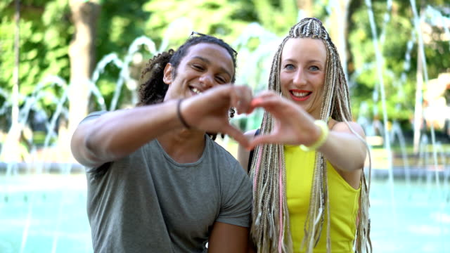 interracial couple showing love - dreadlocks stock videos & royalty-free footage
