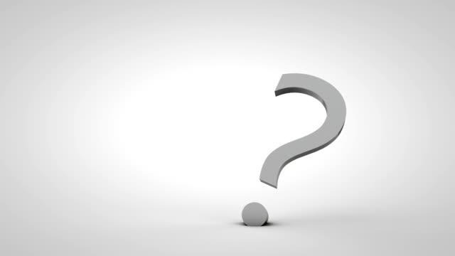 interrogation symbol - question mark stock videos & royalty-free footage