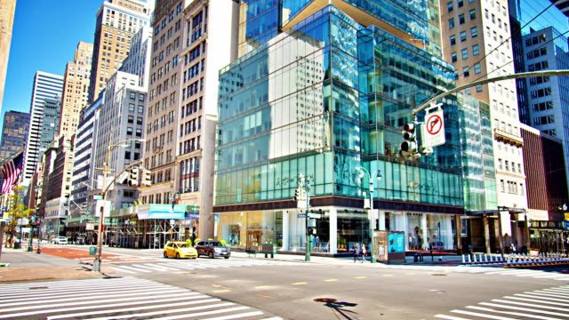 intersection 5th avenue and 42nd street. rise, morning, growth, development. - manhattan new york city stock videos & royalty-free footage