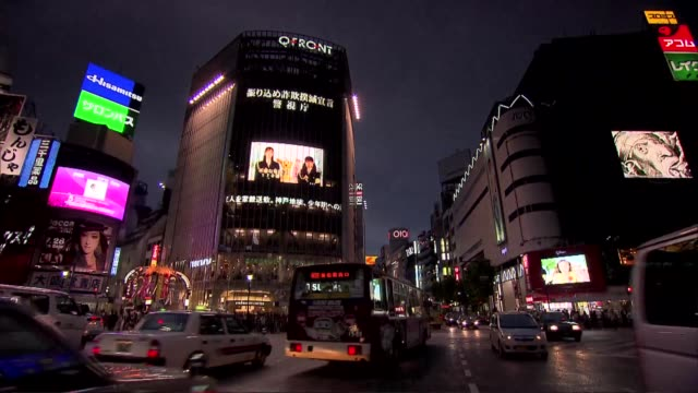 intersection in tokyo - tokyo japan stock videos & royalty-free footage