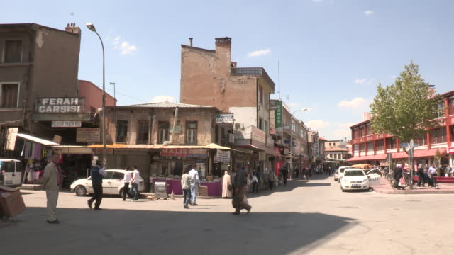 intersection, konya, turkey - 中東点の映像素材/bロール