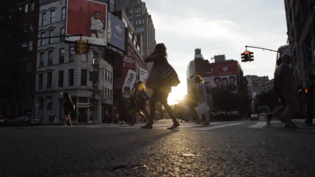 SOHO intersection - New York City - sunset - summer 2016