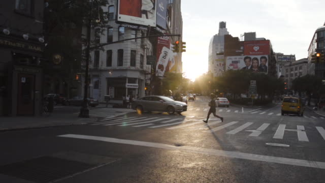 SOHO intersection - New York City - sunset - summer 2016