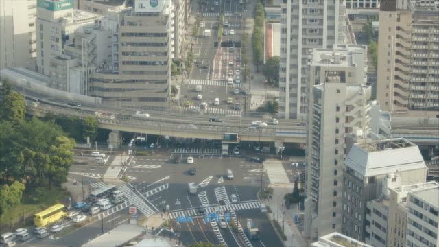 東京の交差点 - トラック点の映像素材/bロール