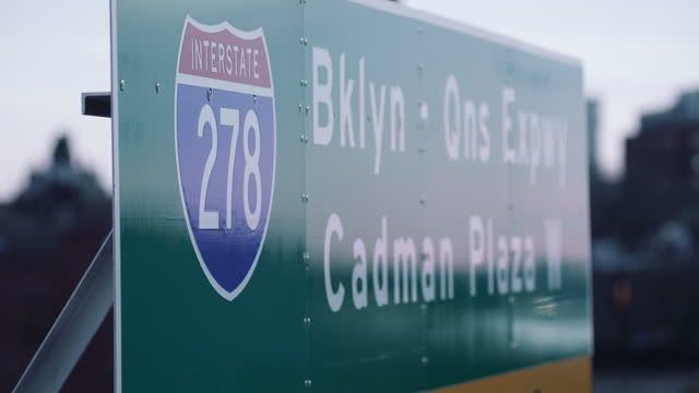 interstate 278 road sign - manhattan stock videos & royalty-free footage