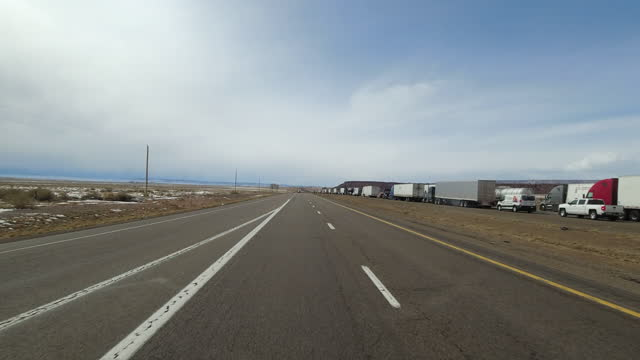 interstate 40 traffic jam in arizona section on march 25, 2021 - car point of view stock videos & royalty-free footage