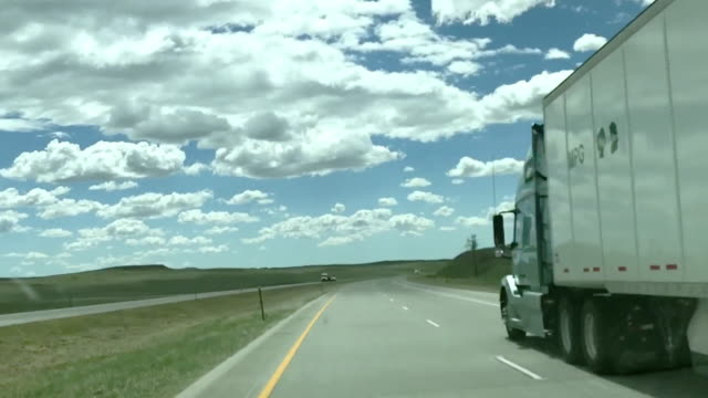 interstate 70 travel in the midwestern united states pov from moving automobile time lapse video - kansas stock videos & royalty-free footage