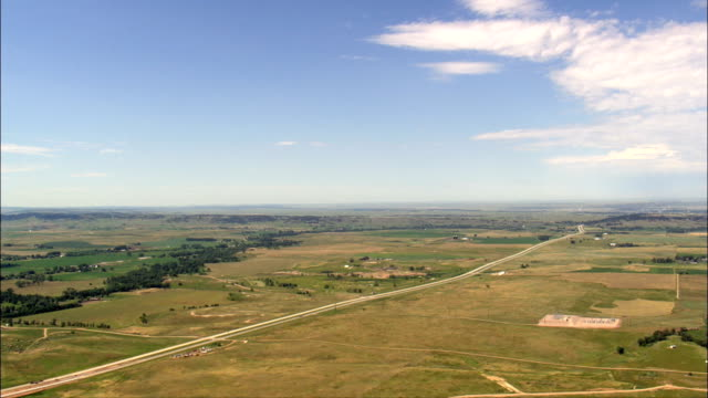 interstate - aerial view - south dakota,  butte county,  united states - prairie stock videos and b-roll footage
