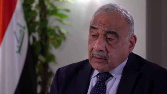 interview adel abdulmahdi iraqi prime minister about saudi arabia and iran after the attacks on the saudi oil refineries i hope they don't attack... - iraqi prime minister stock videos & royalty-free footage