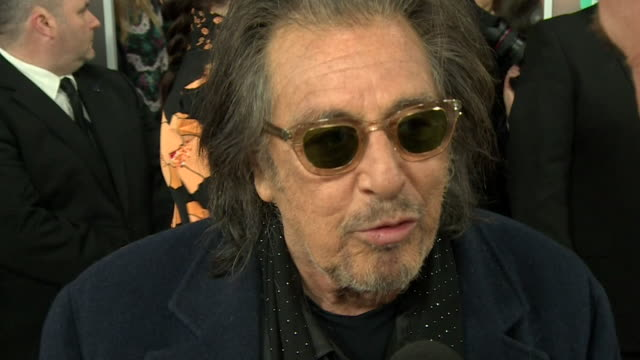 interview al pacino star of the irishman on the red carpet at the bafta film awards 2020 talks about working with robert de niro - al pacino stock videos & royalty-free footage