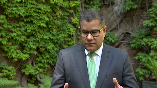 interview alok sharma mp, president cop26 conference, about uk's commitment to cut greenhouse gas emmissions by almost three quarters by 2035, to... - dedication stock videos & royalty-free footage