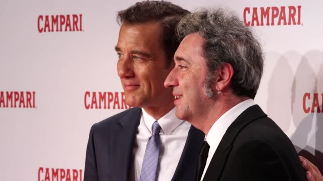 vídeos de stock, filmes e b-roll de interview and gvs with actor clive owen as he stars in a short film 'killer in red' to launch the brand's red diaries campaign includes gvs of... - daniel craig ator