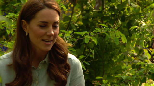 GBR: Catherine, Duchess of Cambridge Unveils her 'Back to Nature' Woodland Design as Part of Chelsea Flower Show
