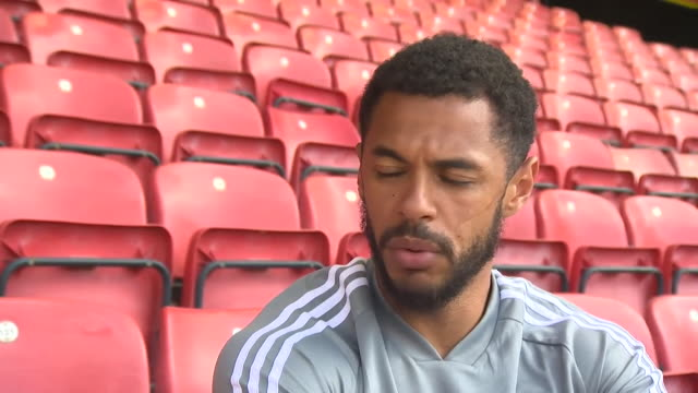"interview andre gray, watford fc forward, about the importance of the black lives matter movement ""for the first time ever we have really got a voice"" - motion stock videos & royalty-free footage"