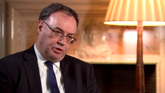 interview andrew bailey governor of the bank of england about the government and the bank supporting companies during the coronavirus outbreak - business stock videos & royalty-free footage