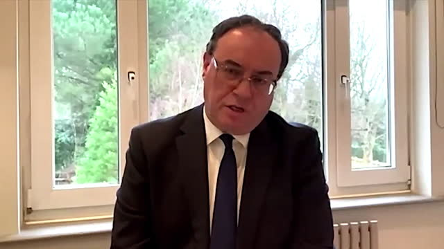 """interview andrew bailey, governor of the bank of england, regarding the economy recovery post coronavirus lockdown """"optimistic that the impressive... - economy stock videos & royalty-free footage"""