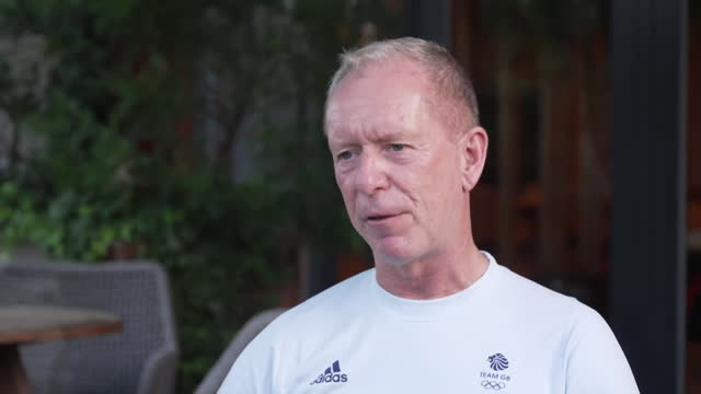 """interview andy anson, ceo british olympic association, about how team gb's success at tokyo olympics so far will have create """"positive energy that... - """"bbc news"""" stock videos & royalty-free footage"""