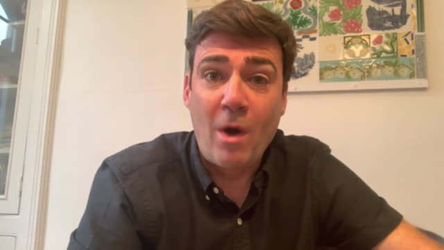 interview andy burnham, mayor of greater manchester, concerned the coronavirus 10pm closure time for pubs and restaurants encourages people to... - global communications stock videos & royalty-free footage