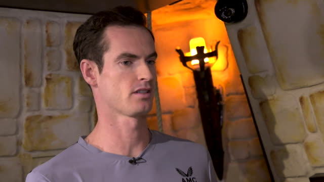 interview andy murray tennis player said taking time off for his hip operation made him realise what the really important things were to him - hip stock videos & royalty-free footage