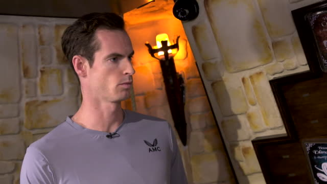 interview andy murray tennis player talks about his time off after his hip operation and how he now knows he can cope without tennis after 3 months... - sport stock videos & royalty-free footage