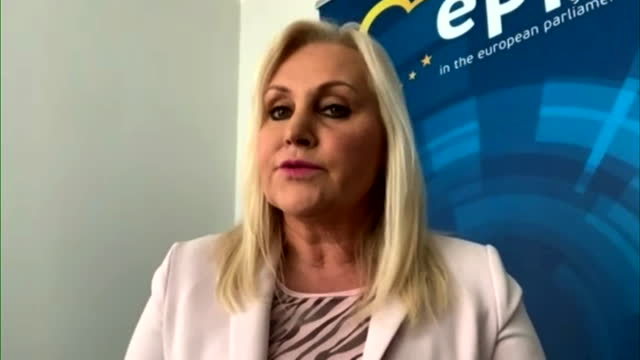 interview angelika winzig mep, austrian's people party, about eu might ban drugs firms from exporting covid-19 vaccine to well supplied countries - traditionally austrian stock videos & royalty-free footage