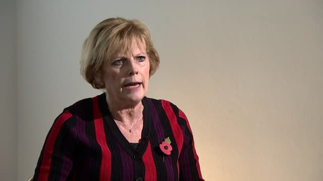 "interview anna soubry mp about abuse received as an mp ""this is a form of terrorism and we wouldn't accept it in any other sphere but because we are... - terrorismo video stock e b–roll"