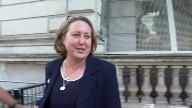 """interview anne-marie trevelyan, international trade secretary, leaving 10 downing street after cabinet reshuffle """"this is a fantastic challenge the... - """"bbc news"""" stock videos & royalty-free footage"""