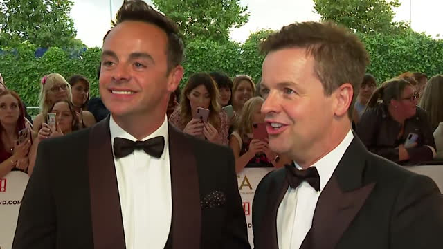 """interview ant mcpartlin and dec donnelly, about going for their 20th consecutive nta award, at the nta awards 2021 - """"bbc news"""" stock videos & royalty-free footage"""