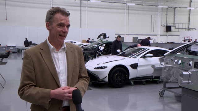 """interview ben sayer, prodrive, offering to help build ventilators during coronavirus pandemic """"the motorsport industry can turn our hand to anything... - a helping hand stock videos & royalty-free footage"""