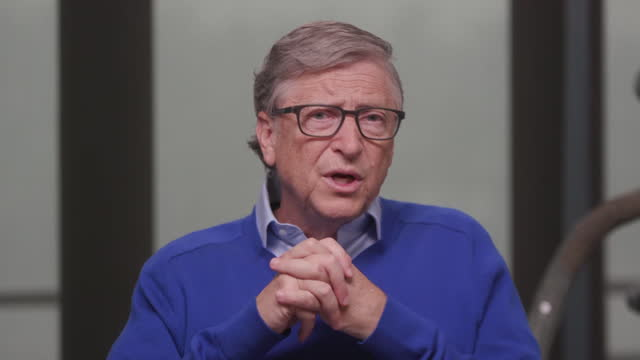 interview bill gates, bill and melinda gates foundation, about the world learning lessons from coronavirus and being ready for the next pandemic - organisation stock videos & royalty-free footage