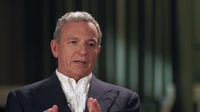 interview bob iger chief executive walt disney company about being competition for netflix netflix is a volume play we are different more branded and... - stream stock videos & royalty-free footage