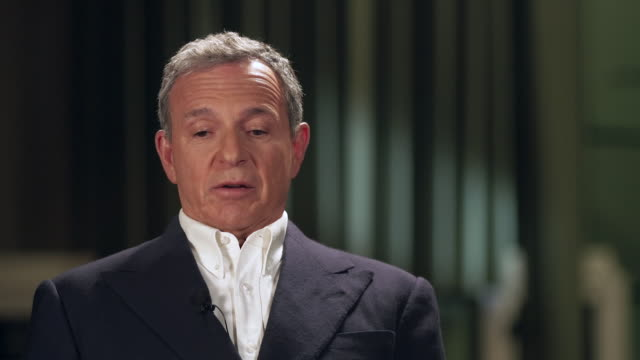 interview bob iger chief executive walt disney company about trends affecting the entertainment industry content is king and secondly get content... - stream stock videos & royalty-free footage
