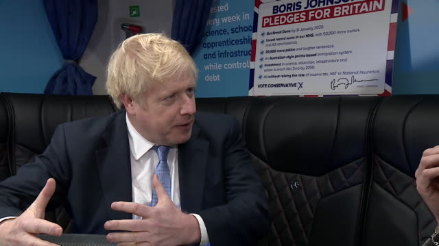 interview boris johnson on the last campaigning day before the general election it's very tight and we are fighting now for every vote - last day stock videos & royalty-free footage