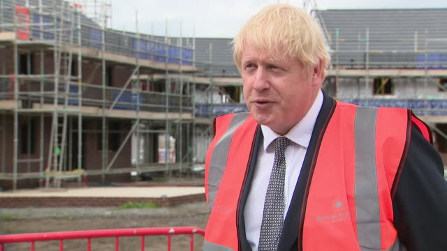 interview boris johnson pm, about changes to the planning system in england - housing development stock videos & royalty-free footage