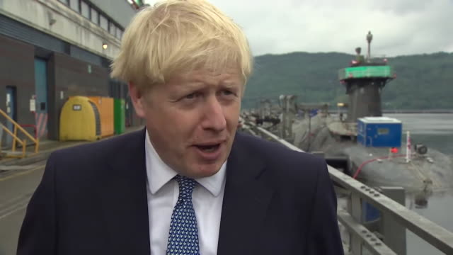 interview boris johnson pm about getting a brexit deal we can get a new deal we are aiming for a new deal but it is responsible to prepare for a no... - agreement stock videos & royalty-free footage