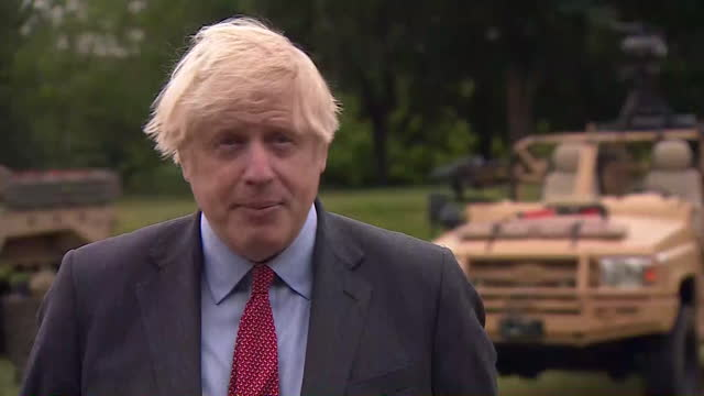 interview boris johnson pm, about looking into easing coronavirus travel restrictions for peole who have been double vaccinated - government building stock videos & royalty-free footage