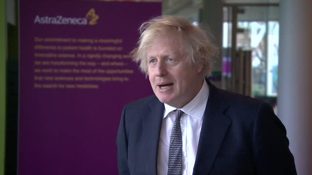 "interview boris johnson pm, about opening up international travel after coronavirus lockdown ""we'll see what we can do to make it as affordable and... - international politics stock videos & royalty-free footage"
